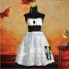High Quality GUMI Lolita Sexy Dress Cosplay Costume Anime cosplay Costume Lolita Dress uniforms Halloween Costume