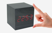 square hotel alarm clock modern simple digital alarm clock 2ways power supply 3*AAA or USB