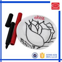 Kids DIY Mini Ceramic Plate and Porcelain Marker Pen