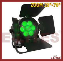 barn door led zoom par can light, powercon in/out rgbw 4in1 wash led flat par can, china par light