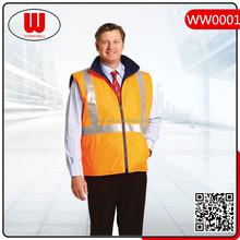 High visibility reversible reflctive safety vest