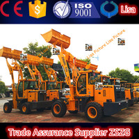 ZSZG construction machine heavy equipment 2 ton garden tractor with front loader AND BACKHOE