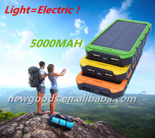 NG Solar Power Bank 10000 mAh mobile phone solar battery charger 10000mah
