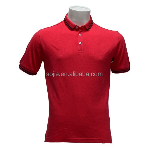 Cheap high quality polo shirts red collar man polo shirt for Cheap polo collar shirts