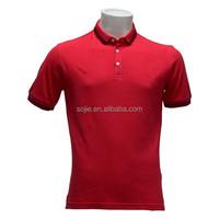 cheap high quality polo shirts red collar man polo shirt thailand clothing manufacturer