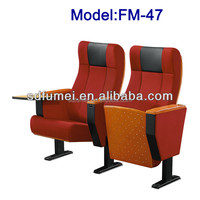 FM-47 High quality church furniture folding chair with armrest