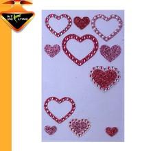 Bling custom acrylic rhinestone sticker for mobile phone