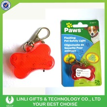 Hot Selling Promotion Led Flashing Keychain for Pets