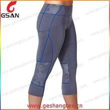 New style hot sale women sport capri tight jogging pants
