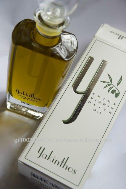 Marca de ouro puro verde Yakinthos óleo de oliva Extra virgem