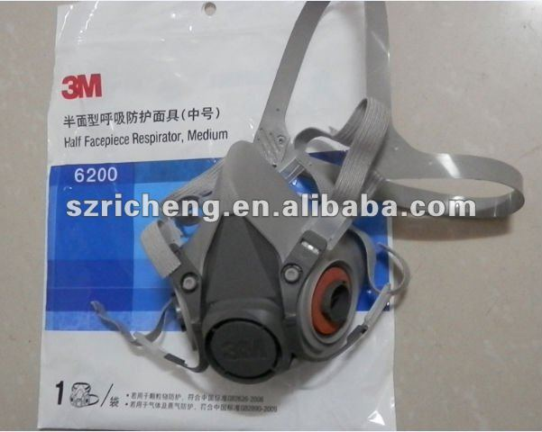 3 M 6200 respirador de media cara de máscara / medio tamaño