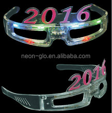 happy new year 2016 LED Rave Sunglasses Flashing Light Crystal Glasses Slotted Sunglasses Great for Raves or crazy Parties