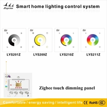 zigbee smart home RGB LED Touch Glass Panel Dimming Switch,Zigbee LED controller