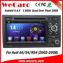 Wecaro hot sale A9 Fast CPU android car dvd player for audi a4 2002-2008 dashboard GPS navigator TV Radio tuner CD Player