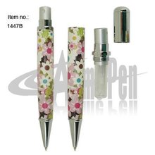 Pen with Atomizer Original Design Unique Factory Provide Fashionable PU leather Ball Pen with Perfume