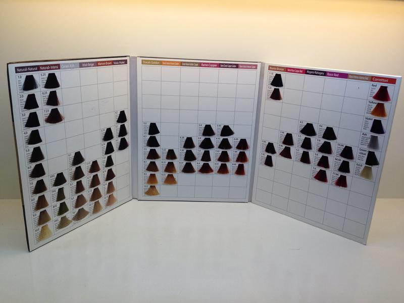 oem 3 plis salon couleur des cheveux tableau fabrication - Tableau Coloration Cheveux