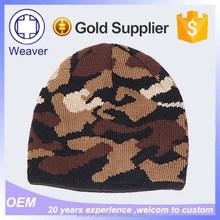 Custom Khaki Camo Free Knitting Pattern Teenagers Knitted Beanie Hats Mens Beanie Hats and Caps