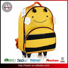 Cheap detachable kids trolley school bags with animal design backpack
