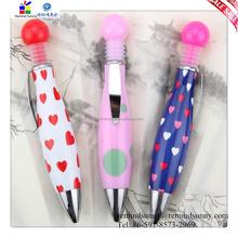 2015 New Design Creative Plastic Gift Colorful Bowlingl Pen