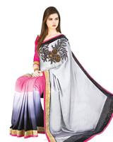 Online shopping Border Worked Saree