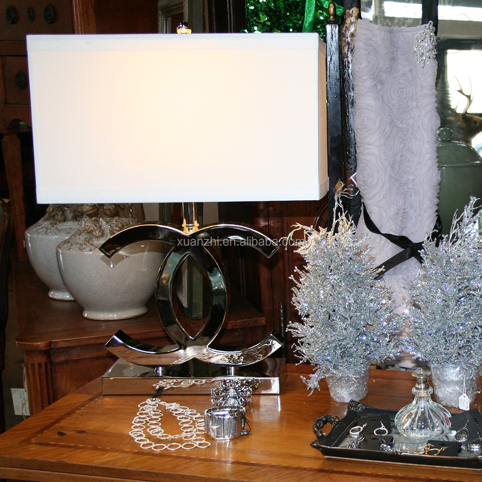 7.30 8 cc creatieve moderne roestvrijstalen tafellamp slaapkamer ...