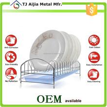 household metal Wire Kitchen Storage Racks 14 plates