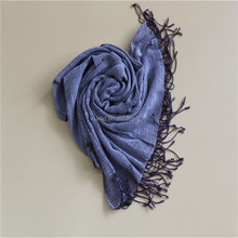 Fashion Pattern Viscose and Wool Blend Scarf with Ruffle