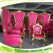 Wood Material Classical Pink Armchair On Sale