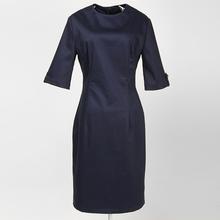 cóctel del partido pinup nupcial lápiz azul marino de las mujeres vestido azul 3/4 mangas de la vendimia vestidos elegantes