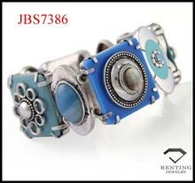 high quality vintage acrylic board and gemstone alloy fancy bracelet