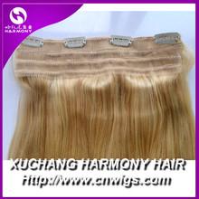 Best clip in hair extensions 22 medium blonde/blonded clip on hair extension/clip in hair extension#613 light blonde