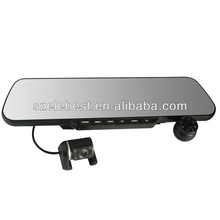 5 inch Car Rear View Mirror Camera AV-IN 1080P .264 4ch dvr combo cctv camera kit Dual Camera