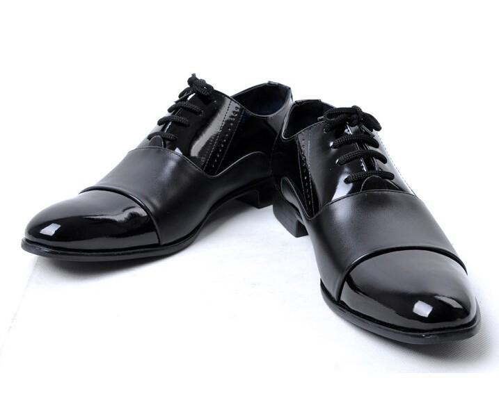 Новые прибытия моды мужских полуботинок кожаный бизнес и свадьба квартиры обувь работа бюро карьеры Обувь Мужчины одевают обувь lbx-03