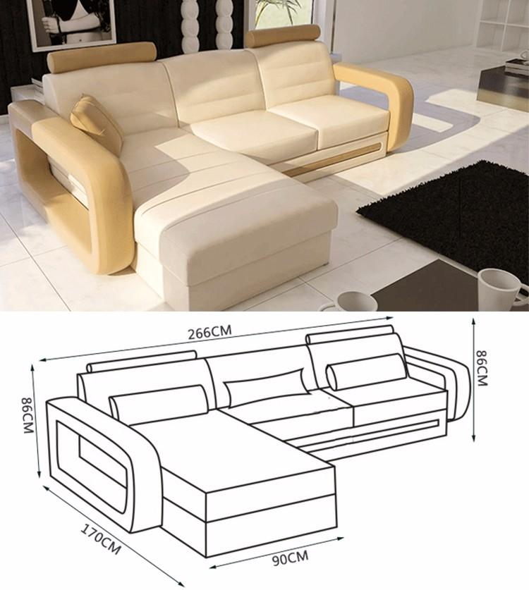 Nouveau design moderne oem odm v ritable canap en cuir - Canape en forme de u ...