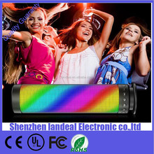 Factory sale Portable Pulse Wireless Bluetooth Speaker Support NFC Colorful 360 LED lights U-disck and TF card Outdoor Speaker