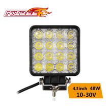 "Auto 4.3"" 4 row led light work 48W for all the car"