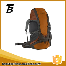 Durable camping orange outdoor trekking backpack hiking with nylon