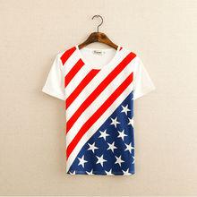 Camiseta Impresión por Sublimación Bandera Americana Importada De China