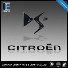 Manufacturer 3d ABS plastic UV finish car emblems alphabet letter stickers for Citroen
