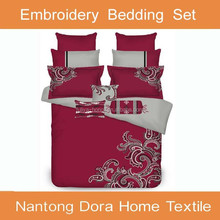 King/Queen size embroidery comforter set