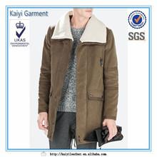 china supplier fur collar long winter men's coat