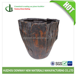 PLAC91 Outdoor Natural Stone Look Fiber Glass Flower Pot