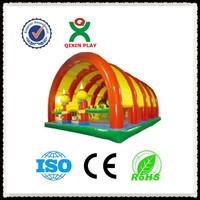 Dora paradise sale cheap bouncy castles/folding inflatable sports/kids bouncy castle QX-11097J