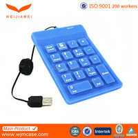 Custom Professional USB Connected Silicone Rubber Numeric Keypad Manufacturer