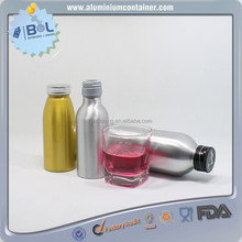 250ml Red Shining Aluminum Sports Soda Bottle In High Quality With Tamper Evident Cap