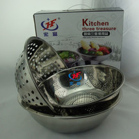 new kitchen tools stainless steel colander as seen on TV cook