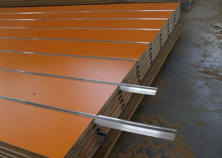 Panel Aluminium Strip : T slot mdf tongue and groove with different colors