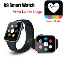 New fashion Bluetooth A9 for iPhone Samsung S4/Note 3 HTC Android Phone and pedometer function where to buy smart watch