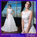 Un- vestido de línea de características de raso bordado de china al por mayor de punjab de la boda vestidos de novia