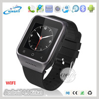 "1.54"" touch screen mtk6577 tw818 smart watch free movies 3G mobile phone m500 with tv speaker sim card slot"